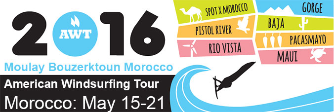 American Windsurfing Tour 2016 in Moulay Bouzerktoun